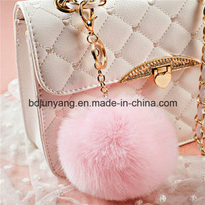 Factory Wholesale Rabbit Fur Ball Keychain for Decoration pictures & photos
