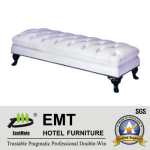 Popular Hotel Furniture White PU Nice Bed Foot Stool (EMT-BS08) pictures & photos