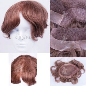 Human Hair Virgin Remy Men′s Toupee pictures & photos