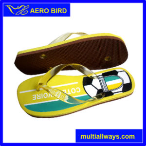 Football Printed Cheap Price PE Sole Slipper pictures & photos