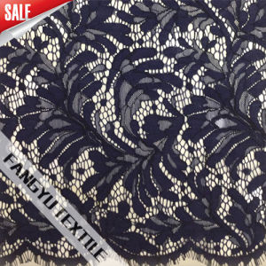 Dense Leaf Lace Fabric for Garment Fabric
