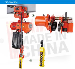5 Ton Low Headroom Electric Chain Hoist with Motorized Trolley pictures & photos