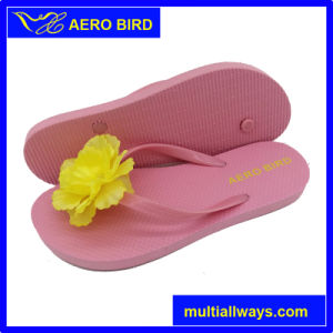 Summer Beach Lovely Hot Selling Girls Flower Slippers pictures & photos