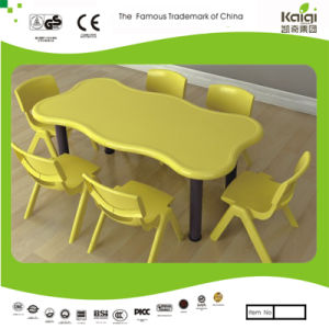 Kaiqi Children′s Table - Wave Shape - Many Colours Available (KQ50175D) pictures & photos