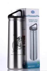 Stainless Steel Single Wall Outdoor Sports Water Bottle Flask Vacuum pictures & photos
