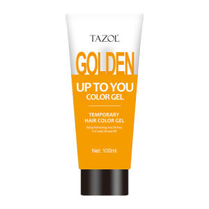 Tazol Temporary Hair Color Gel with Gold Color 100g pictures & photos