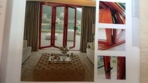 Aluminum Patio Double Glass Sliding Folding Doors Aluminium Folding Doors pictures & photos