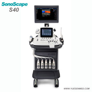 Sonoscape S40 Medical Trolley 4D Color Doppler Ultrasound pictures & photos