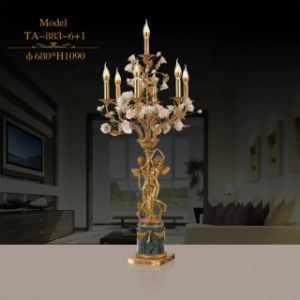 Special Standing Desk Lamp with Ceramic Flower and Brass Base (TA-883-6+1) pictures & photos