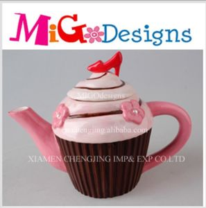 China Production Cupcake Design Ceramic Teapot pictures & photos