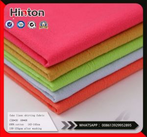 Fake Linen Shiring Fabric 130-135GSM After Washing pictures & photos