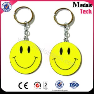 Custom Sticker Printing Smile Face Key Chain with SGS Certificate pictures & photos