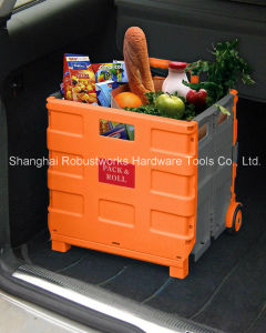 Plastic Folding Shopping Cart (FC401C-1) pictures & photos