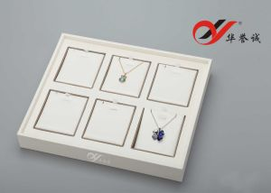 6 Slots Pendant Display PU Leather Tray with Removable Pads pictures & photos