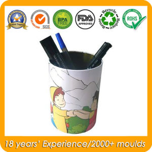 Round Tin Box for Pen Container, Metal Brush Pot pictures & photos