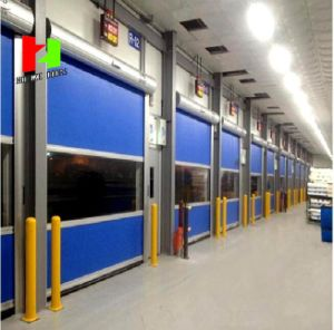 Soft Curtain Electric Roll up Exterior Waterproof Fast Speed Rolling Door (Hz-FC04120) pictures & photos