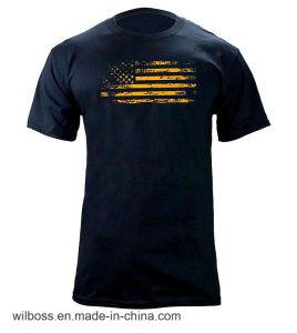 Custom Quality Tc 65/35 Flag Printing Man′s T-Shirt of Round Neck