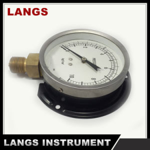 028 100mm Standard Dry Pressure Gauge with Flange pictures & photos
