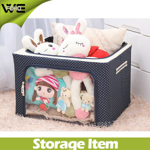 Stackable Steel Frame Shelf Quilt Clothing Storage Boxes with Lids pictures & photos