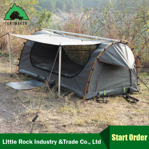 Double Canvas Swag High-Grade Waterproof Sunscreen Camping Tent pictures & photos