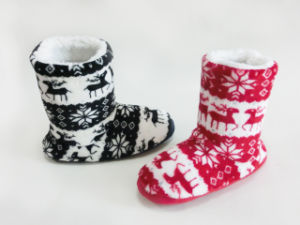 Child′s Hot Style Warm Winter Soft Snow Boots with Snowflake pictures & photos