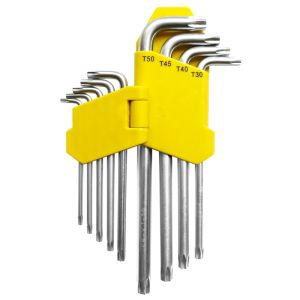 9PCS Cr-V Steel Wrench Ball Ends Hex Key Allen Key Set pictures & photos
