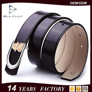 Fashion Export Genuine Cowhide Red Leather Buckle Women Waist Belts pictures & photos