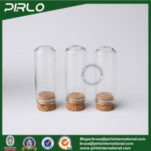 5ml Clear Glass Vial Essential Oil Perfume Tester Glass Bottle with Wood Cork Stopper pictures & photos