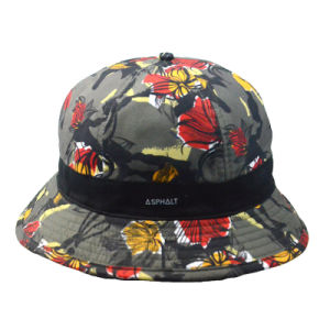 Custom Fashion Colorful Polyester Bucket Hat Summer Hat Fishing Cap pictures & photos