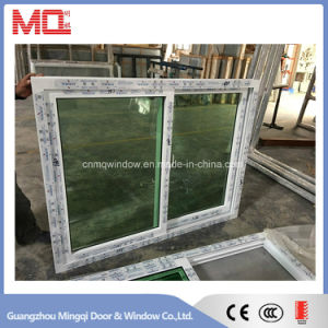Tempered Glass Slidng PVC Window with Net pictures & photos