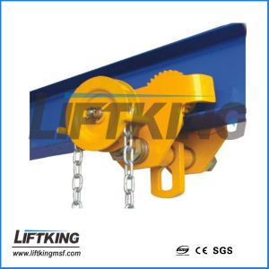 5t Hand Pull Geared Trolley for Chain Block pictures & photos