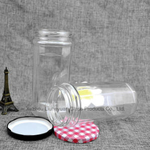 690 Ml Food Grade Transparent, Cylindrical, Wide Mouth Coffee Cans Storage Glass Jar pictures & photos