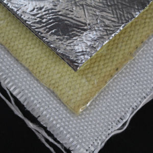 High Temperature Heat Resistant Aluminum Laminated Aramid Kevlar Fiber Cloth pictures & photos