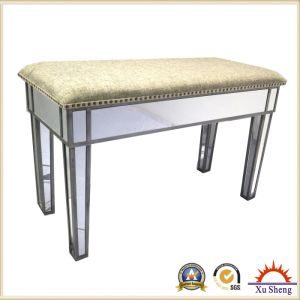 Mirrored Dressing Stool with Farbic on Top pictures & photos