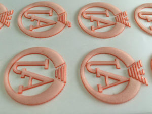 3D & Thickness Silicone Heat Transfer Chest Logo Printing Stickers pictures & photos