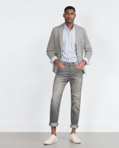 Men Fashipon Jeans Trouser