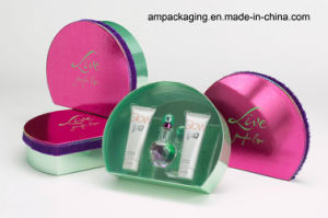 Custom Luxury Square Pink Cosmetic Paper Box with Lid EVA pictures & photos