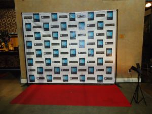 Hight Quality Backdrops and Red Carpets Step and Repeat Backdrop Sports Wall Printing pictures & photos