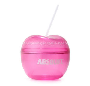 Hot Sale 450ml Plastic Cherry Drinking Bottles with Straw, Plastic Water Bottles pictures & photos