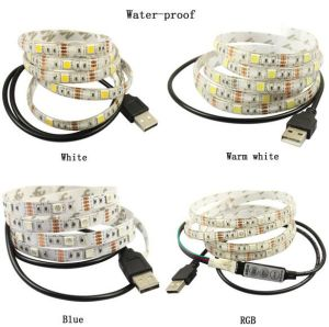 USB RGB White Red Flexible Outdoor Waterproof SMD LED Strip TV Back Christmas Light pictures & photos
