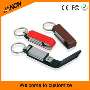 Business Rectangle Leather USB Flash Drive pictures & photos