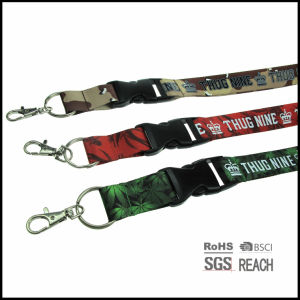 High Quality Sublimation and Screen Printed Nylon Neck Sport Lanyard pictures & photos