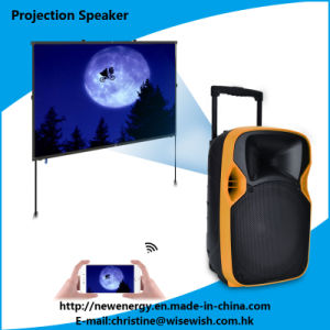 Professional 12 Inches PA Speaker with LED Projector