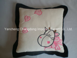 Plush Square Cushion with Angel Embroider pictures & photos