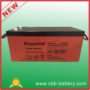 12V 250ah Lead Acid Gel Solar Battery for Solar PV System pictures & photos