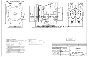 China Air Conditioner Zexel Compressor 24V2a 152mm Clutch 15 Years pictures & photos