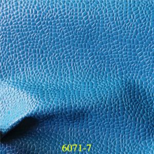 High Quality Lovely Stone Grain Design PU Artificial Leather pictures & photos