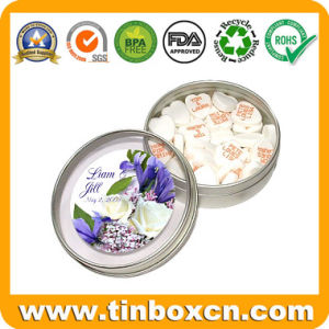 Round Confectionary Tin Can with Transparent Lid for Sweets Candy pictures & photos
