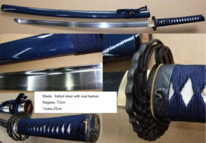 Hand Forged Folded Steel Katana Sword with Hamon pictures & photos