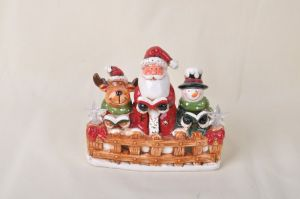 Ceramic Small Santa Christmas Ornaments pictures & photos